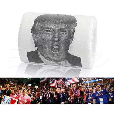 Donald Trump Toilet Paper Roll Dump Trump Funny Gag Prank Joke Gift Big Mouth