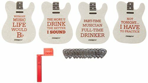 CC TELECOAST KIT Tele Guitar Shaped Coasters String Winder Pick Sampler Bundle