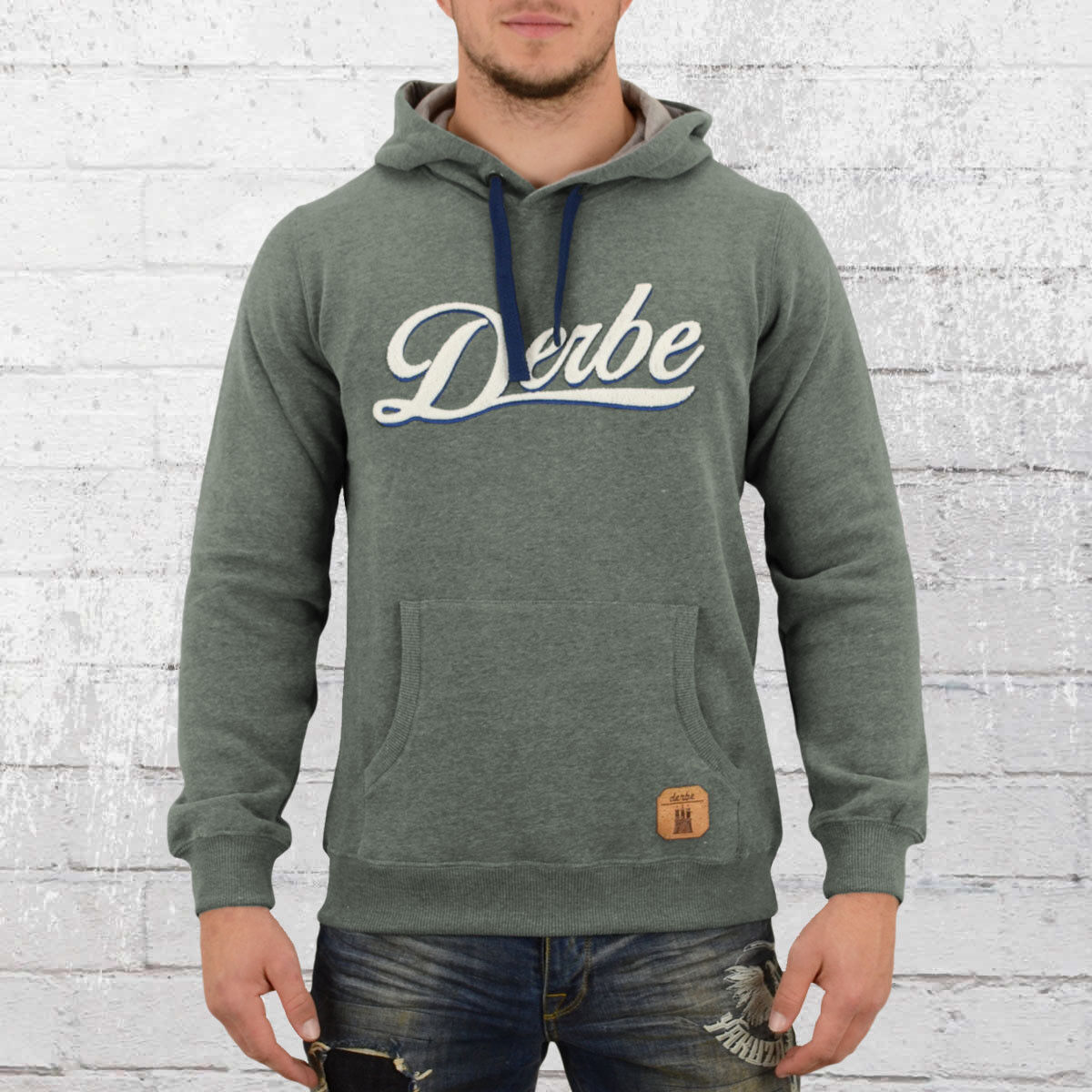 Derbe Männer Kapuzen-Sweatshirt Roadmovie grün Pullover Hoody Hoodie Sweater