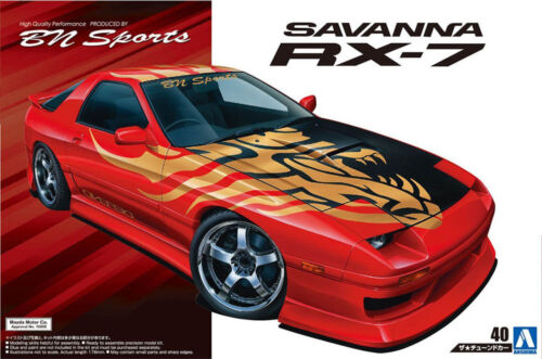 1989 Mazda RX-7 Savanna FC3S BN Sports 1:24 Model Kit Bausatz Aoshima 054499