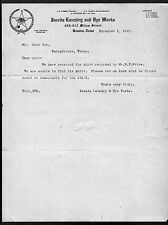Ineeda Laundry & Dye Works Houston TX 1907 Vintage Letterhead Rare