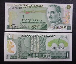 P.66  UNC 1983 GUATEMALA BANKNOTE 1 Quetzal