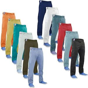 Men-Chino-Trouser-Slim-Fit-Jeans-Cotton-Straight-Leg-Casual-Pants-All-Waist-Size