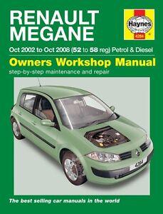 haynes owners workshop manual renault megane pet diesel 02 08 rh ebay co uk renault megane 3 service manual download renault megane iii service manual pdf