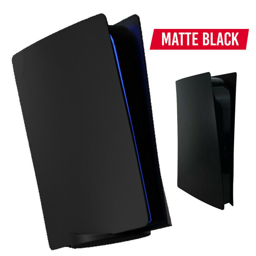 5 Black PS5 Face Plates Cover Side Digital Disc Drive Edition Black Shell Case