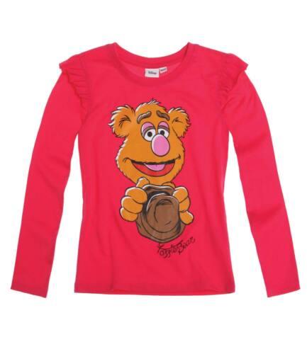 Neu Pulli Pullover Langarmshirt Disney Die Muppets grau pink 110 122 134 146#811