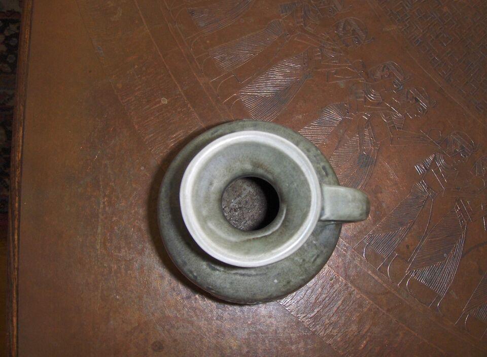 Keramik, VASE: RÖRSTRAND ZENIT VASE MED HANK, Rørstrand