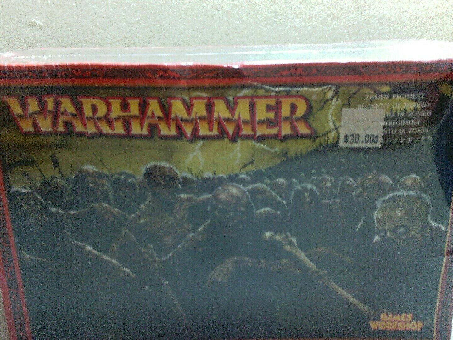 Warhammer For sale is a box ZOMBIE REGIMENT
