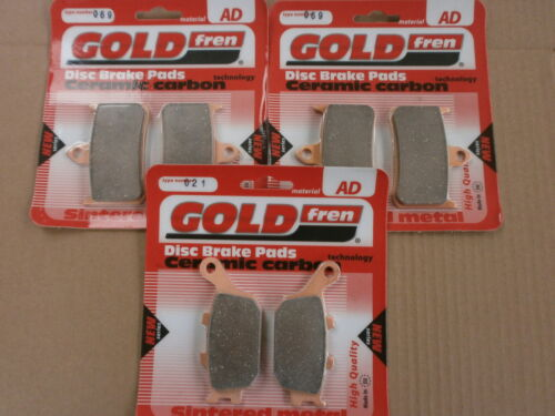 HONDA CBR 900 RRS FIREBLADE 1995  FRONT & REAR SINTERED HH BRAKE PADS *GOLDFREN