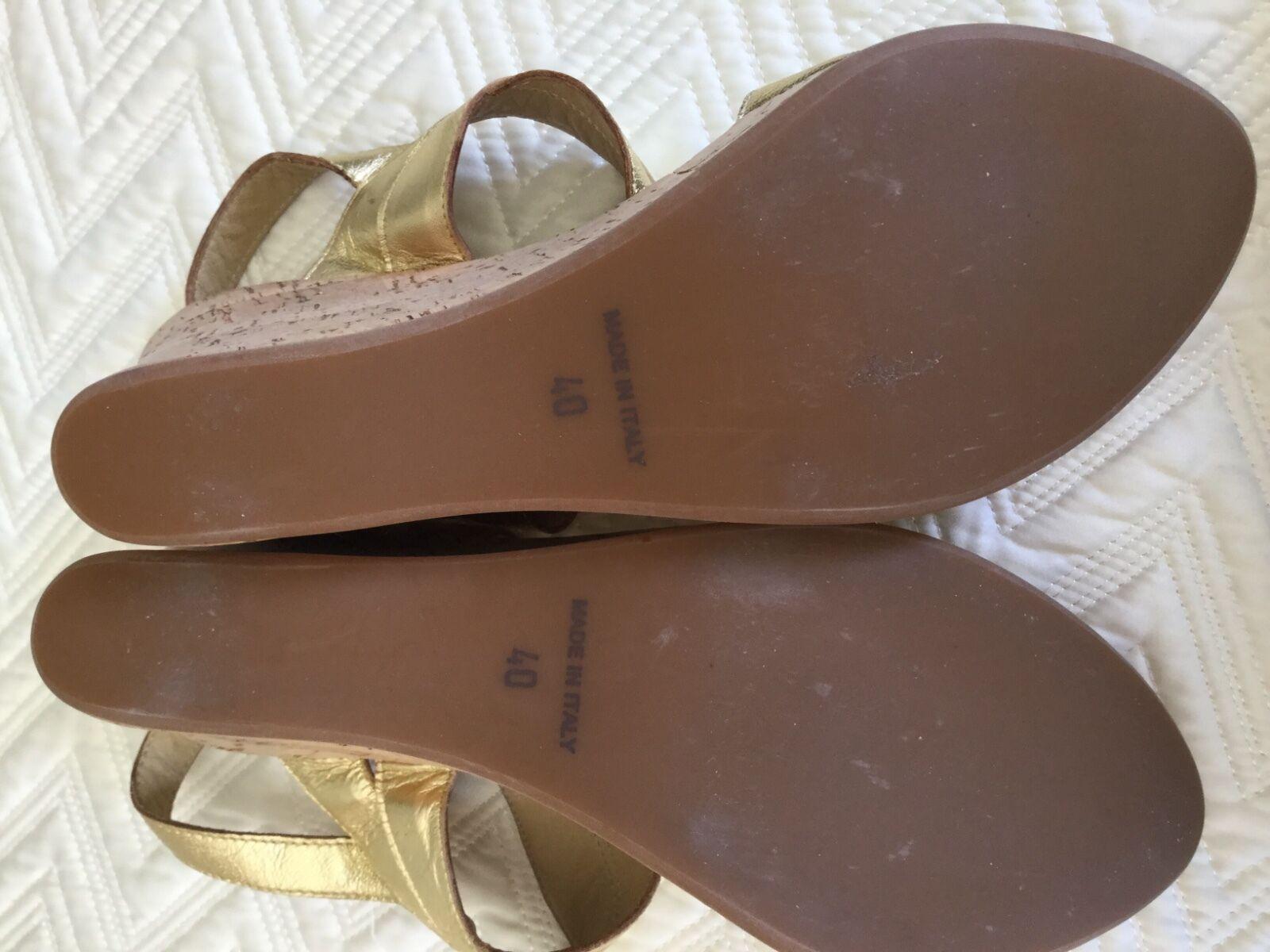 Woman's Barneys New York Barn Gold Gold Gold platform sandals 40 10 heels schuhe a78078