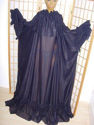 FäHig Wundervolles Nylon Nachtkleid Diva Schwarz/ Black Vintage Negligee Xl-3xl-4xl Perfekte Verarbeitung