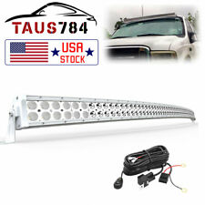 Curved Led Light Bar 50inch Harness Off Road Combo Driving Truck Suv 4x4 Atv
