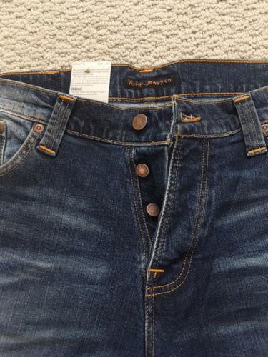 Nudie Jeans Morte Tim Jon Replica Lunghezza Lunghezza Lunghezza È 34 su Tutti i Nuovo Mai Indossato 10562f