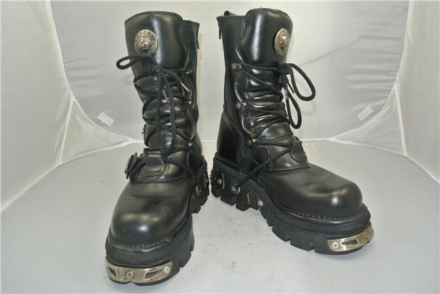 NEW ROCK STRAPS REACTOR BLACK Stiefel 4 STRAPS ROCK ANATOMICAL SOLE ZIP SIZE 9 UK dd6ca1