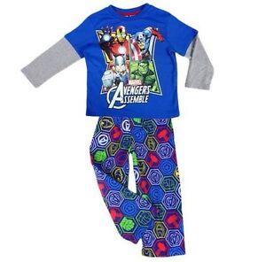 NEW-Boys-Licensed-Marvel-Avengers-Assemble-Pyjamas-PJs-Sleepwear-Size-3-4-5-6