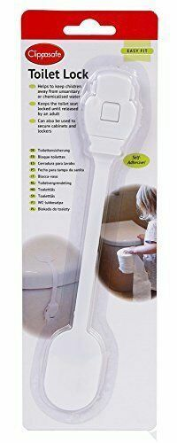Clippasafe Toilet Seat Lock Self Adhesive Home Safety Baby Proofing