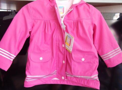 I Rock the Block Little Girls/' Rain Jacket Reflective Raincoat PINK 2T 3T 4T NWT