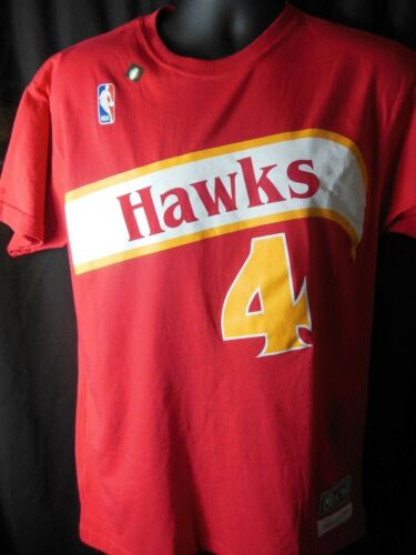 0d09894b261 3 of 7 Atlanta Hawks Spud Webb  4 Mitchell   Ness Hardwood Classics Tee  Shirt