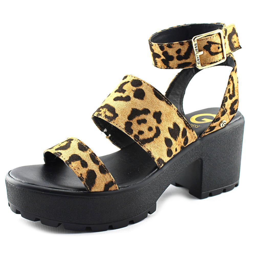 NEW G By Guess Gadri Women Open Toe Leopard Platform Sandal shoes Sz 6