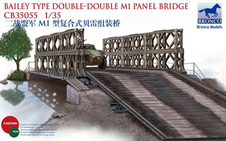 Bronco 1 35  CB35055 Bailey Type Double-Double M1 Panel Bridge