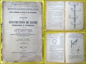 LORAIN-Cours-de-construction-de-lignes-telegraphiques-et-telephoniques-1916
