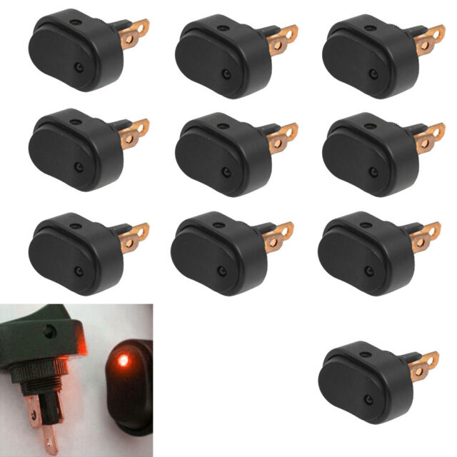 10 X 12V 30A Heavy Duty Red LED OFF/ON Rocker Toggle Switch Car Motor Boat HB