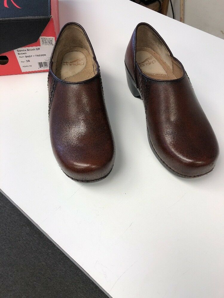 DANSKO SIENNA BRUSH OFF BROWN EXCELLENT PREOWNED CONDITION 38