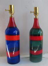 FULVIO BIANCONI for VENINI Fasce Orizzontale Bottle Lamps  c. 1951