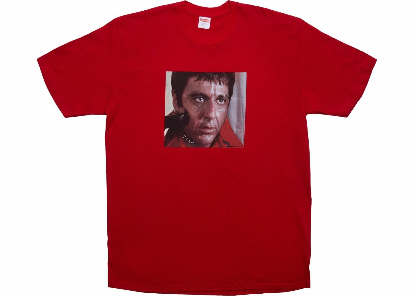 Supreme Scarface Scarface Scarface Shower Tee rosso XL Extra Large Blimp Friends Box Logo Bogo 10cee4