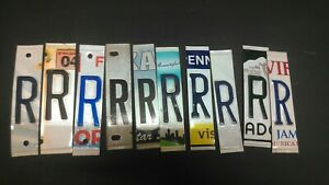 Details About Lot Of 10 License Plate Letters Letter R For Arts And Crafts Projects Signs
