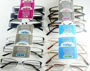 FOSTER-GRANT-Reading-Glasses-3-x-PAIR-PACK-1-0-1-25-1-5-2-0-2-5-3-0-3-5