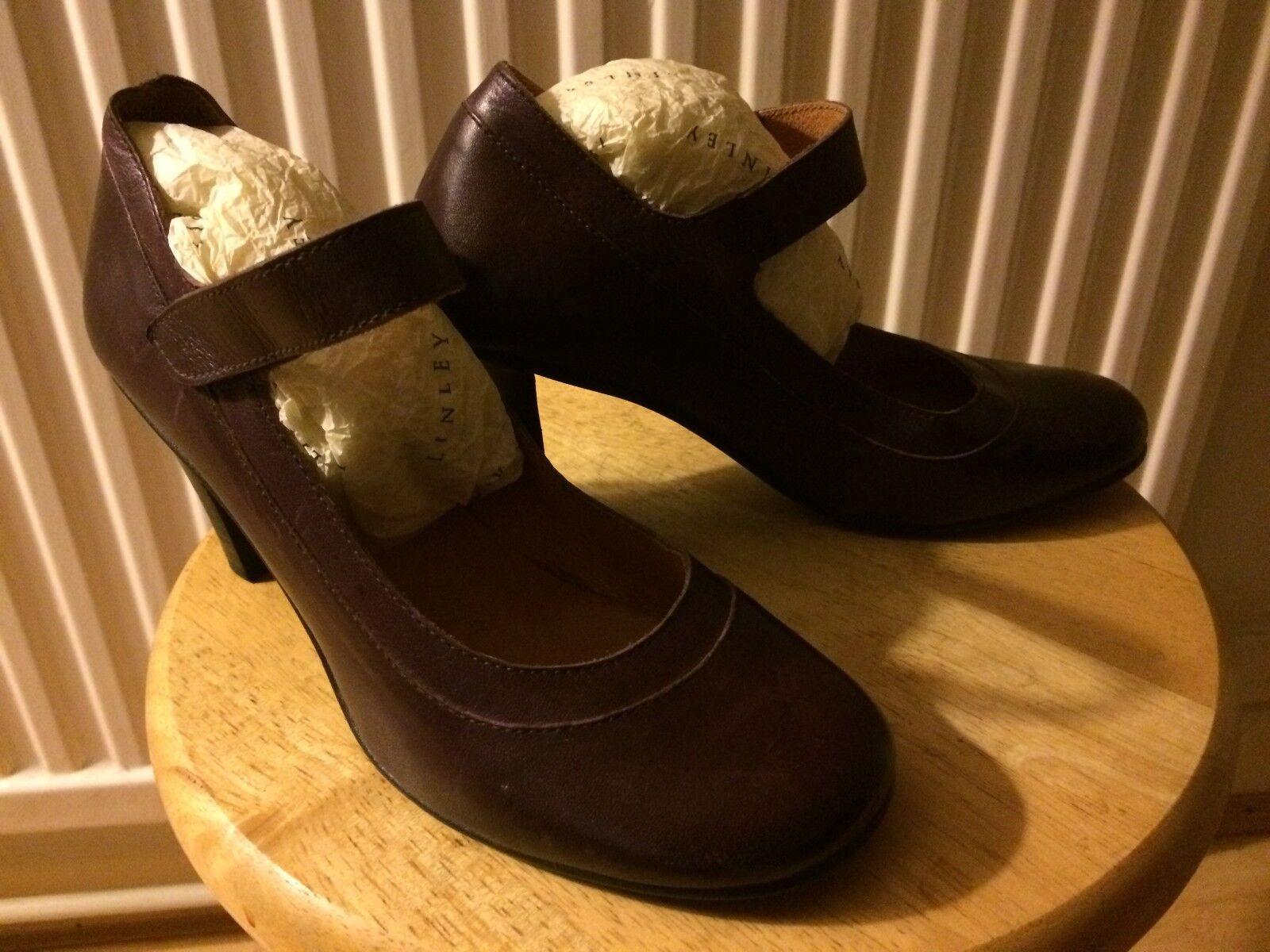 Maroon Maroon Maroon Mary janes chaussures tout cuir eu 37 Talon Haut Fermeture Velcro Fancy c82478