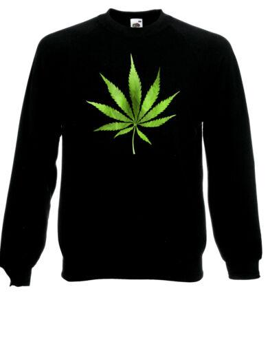Cannabis Leaf Plant Symbol Weed Pot Green Smoking Jumper SweatShirt Sweats AF67