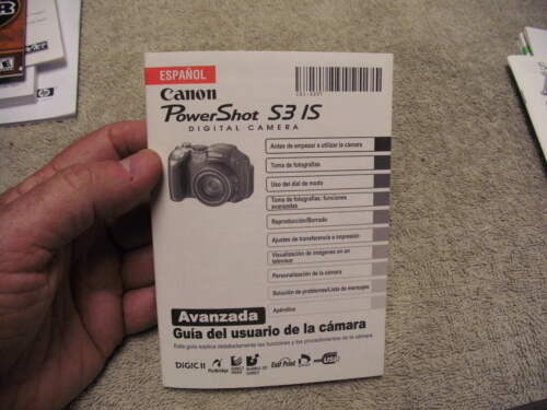 Canon PowerShot S31S Digital Camera Used Guide in Espanol