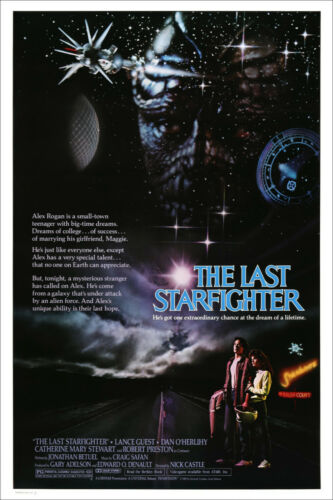 NEW THE LAST STARFIGHTER 80s OFFICIAL ORIGINAL CINEMA MOVIE PRINT PREMIUM POSTER