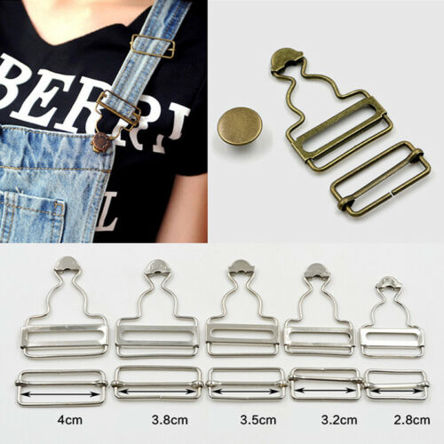 Dungaree Fasteners Clip Brace Buckles in Suspender Buttons Tack Clothes Craft