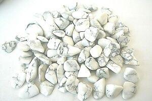 Six-White-Howlite-Magnesite-Tumbled-Stones-20-25mm-Qty6-Reiki-Healing-Crystals