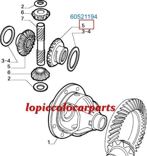 60521194 Planetario Differenziale Posteriore 1600  Alfa 75 da 1600 Posteriore a 2000 T.S. ORIGIN bf6f30