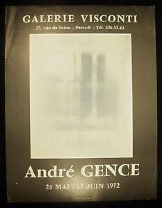Poster Exhibition André Ganja Gallery Visconti Paris IV Th 24 May 17 June 1972