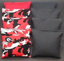 GEORGIA BULLDOGS 8 CORNHOLE BAGS BEAN TOSS PRINT FRONTS W//DUCK BACKS  b//camo