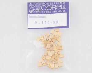 Corel B114 Crochet-Moufle 2 Yeux 4 MM (50 Pièces) Modélisme