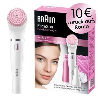 Braun Gesichtsreinigung Bürste und Epilierer Face 832S in pink für Gesicht