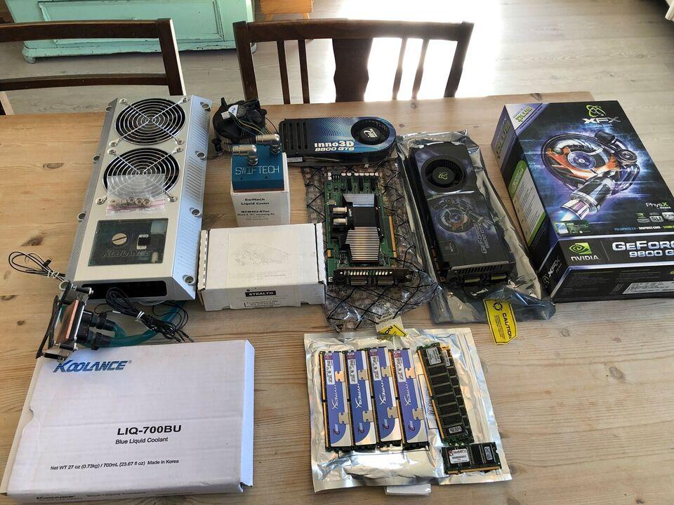 Blandet hardware og vandkøling til PC