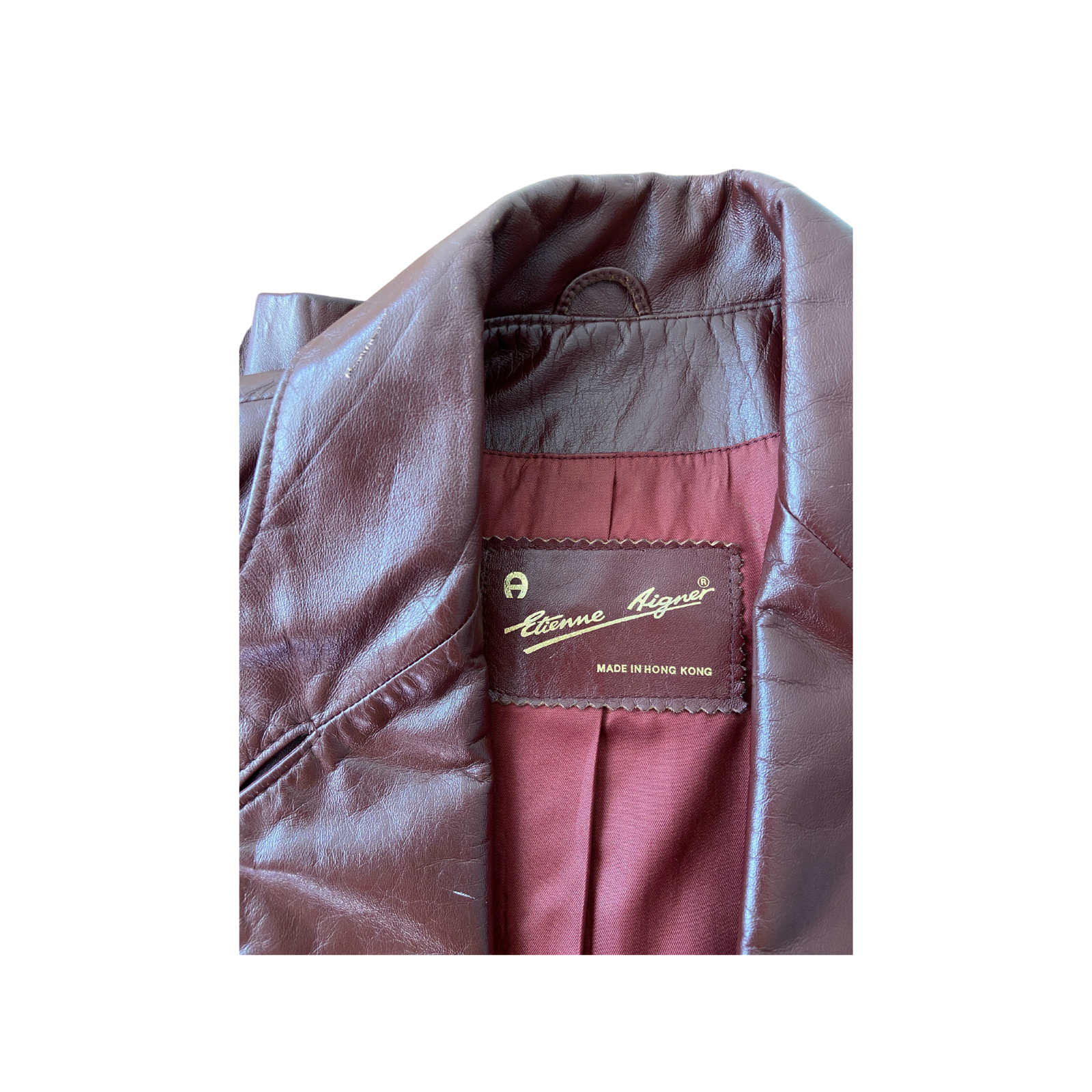 1970s Etienne Aigner Brown Fitted Blazer leather … - image 5