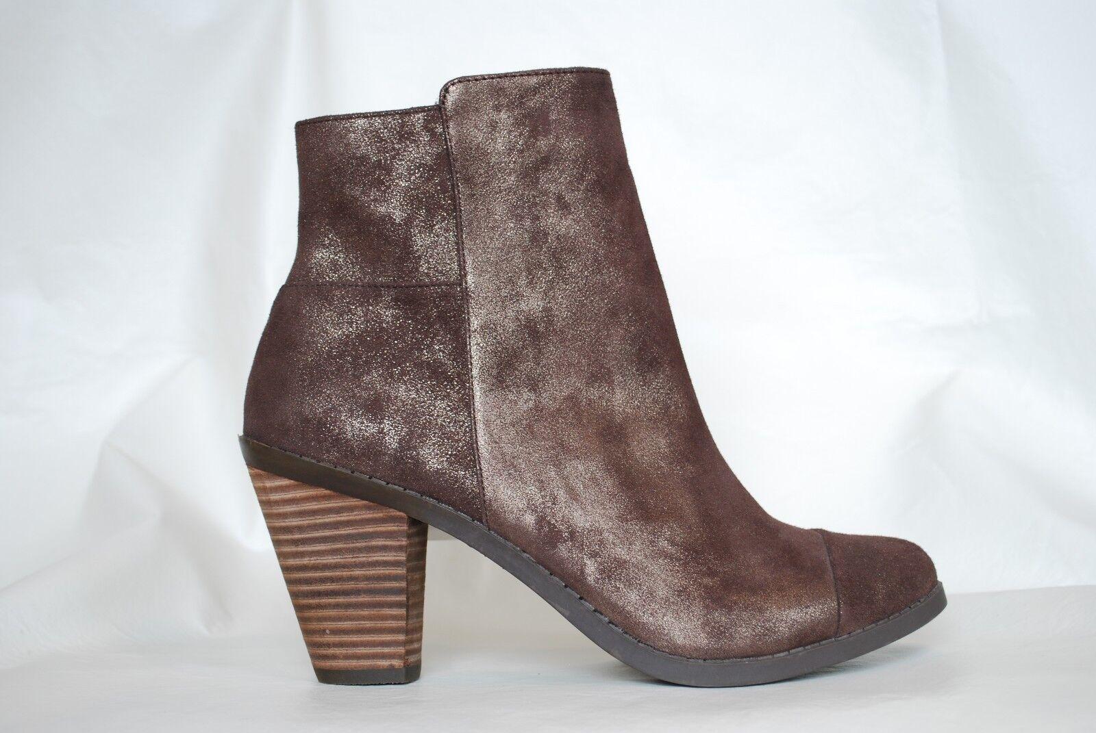 ADAM TUCKER New Ankle Stiefel NIB Dark Bronze BOOTIES Heels Schuhes Damenschuhe 9.5   S1