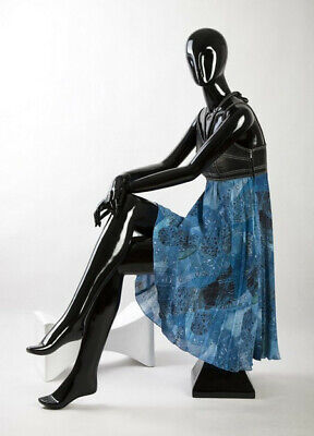Sitzende Schaufensterpuppe Abstrakt LOUTOFF KAT03 Weiß Glossy Mannequin Frau