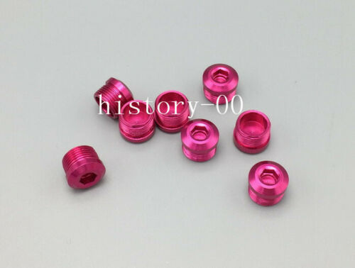 Aluminium MTB Road Bike flat pedal End Caps bolts nut dust proof Screws Fuchsia