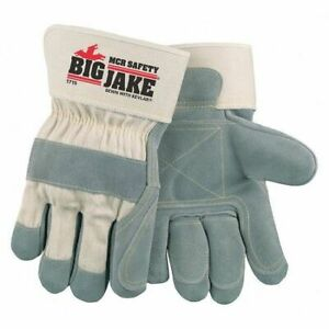 Mcr Safety 1715 Double Leather Palm Fingers,15,Pk12