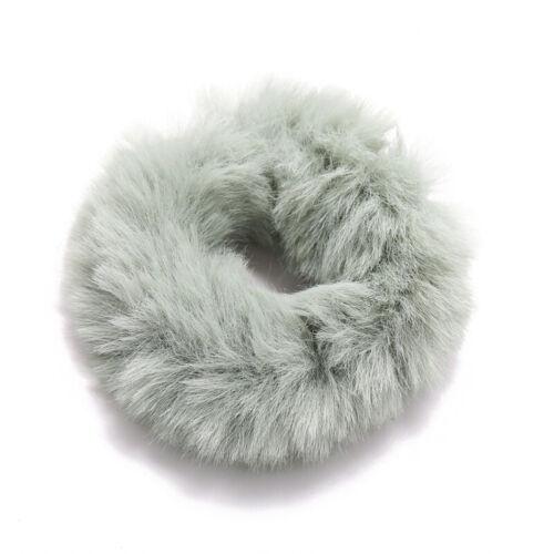4pc Rabbit Fur Hair Scrunchies Hair Ties Elastic Hair Bands Ropes for Women Girl