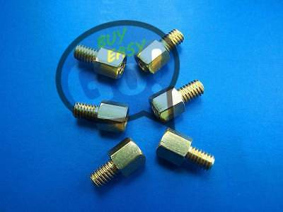 50Pcs Brass Standoff Hexagonal Net Spacer Screw Nut Female M3 4+6mm For PC Board